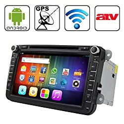 See Rungrace 8.0 inch Android 4.2 Multi-Touch Capacitive Screen In-Dash Car DVD Player for Volkswagen with WiFi / GPS / RDS / IPOD / Bluetooth / ATV Details