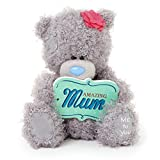 Me to You 6-inch Tatty Teddy Bear Holding a Amazing Mum Plaque (Grey)