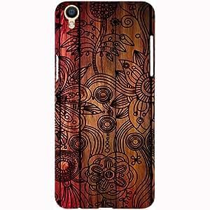 Casotec Dark Wooden Background Design 3D Printed Hard Back Case Cover for Oppo F1 Plus