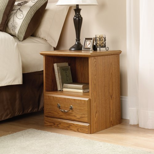 Sauder Orchard Hills Night Stand, Carolina Oak Finish front-948691