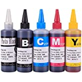 Generic Five Colors Dye Ink Desktop Ink Cis System Refill Ink for 564 Xl Etc Cartridge Ink Refill Kit for Hp Printer 100ml