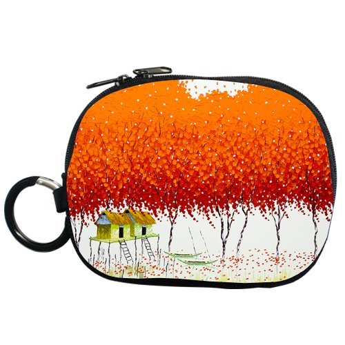 Vietnam Artist Phan Thu Trang Vivid Orange-Red Grove Personalized Coin Purse (Two Side) front-525857