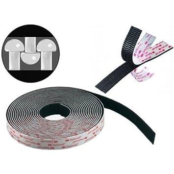 Klettband klebeband weiss schwarz meterware haken