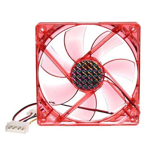 4 broches 120x120x25mm 12v cpu ventilateur de refroidissement ordinateur pc led rouge