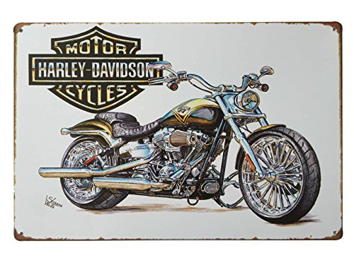 "Harley Davidson World's Finest Motorcycle Panhead Retro Vintage Tin Sign 12"" X 8"" Inches, a Two-sided Postcard Made By Smiel Buy Is Included 0"