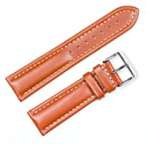 Breitling Style Oil Tanned Leather Watchband Havana 19mm Watch band – by deBeer