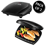 2x George Foreman 18870 5 Portion Family Grill Black