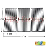 67233 Porcelain Cast Iron Cooking Grid Grate Replacement for Select Brinkmann, Grill King Gas Grill Models, Set of 3