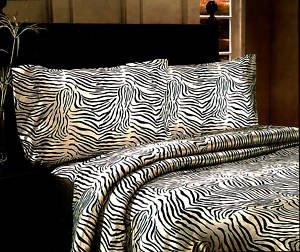 I Heart Zebra Decorations: Animal Print Satin Sheet Sets, Queen ...