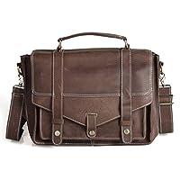 Amango Crazy Horse Leather Men's Briefcase A1007