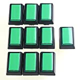 Amazon.co.jpEasyget 10 Pcs/lot 5v Rectangular LED Illuminated Arcade Push Button with Microswitch 50mm*33mm for Arcade Video Games , Mame Cabinet DIY Parts & Beatmania Iidx Video Games Green Color