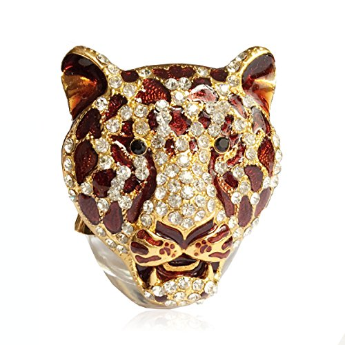 Grikey Vent Outlet Air Freshener - Car Perfume Bottle Leopard Head Cars Interior Home Decoration (Perfume NOT included)