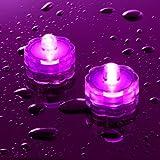 Offre Spéciale : Lot de 20 Bougies Etanches et Submersibles aux LED Roses par Lights4fun