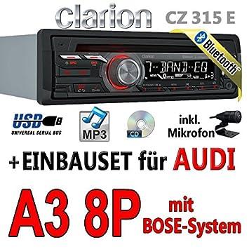 Audi a3 8P-clarion cZ315E-avec kit de montage