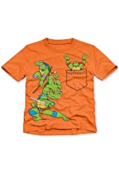 Nickelodeon Little Toddler Boys Teenage Mutant Ninja Turtles Faux Pocket Tee T-Shirt