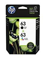 HP 63 Black & Tri-color Original Ink Cartridges, 2 pack (L0R46AN) from Hewlett Packard SOHO Consumables