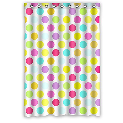 """Polka Dot Colorful Waterproof Shower Curtain 48"""" X 72"""" front-959071"""