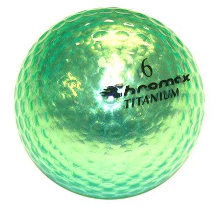 Golf Chromax M1 Golf Ball Green Shiny 3 Balls Sleeve