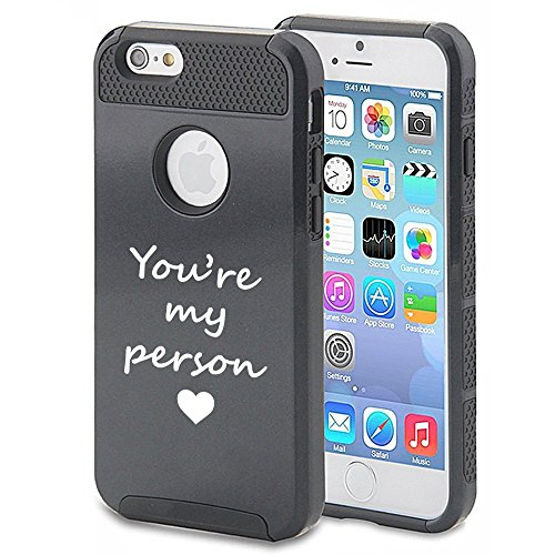 Apple iPhone 6 Plus 6s Plus Shockproof Impact Hard Soft Case Cover You're My Person (Black) (My Person Phone Case compare prices)