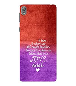 EPICCASE Love exist Mobile Back Case Cover For Sony E5 (Designer Case)