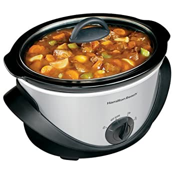 4-quart oval slow cooker with full body cool-touch handle design for easy carrying and moving. Holds up to a 5 lb chicken. Three heat settings: Hi, Low and Keep Warm. Beautiful black with chrome accent color design.