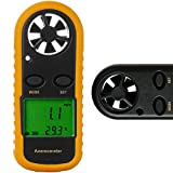Prosteruk Wind Speed Tester Indicator Monitor Air Flow Meter Anemometer Handheld - Air Velocity Scale Gauge Meter Wind Direction with LCD Display for Sailing Surfing Windsurfing Fishing Kite Flying
