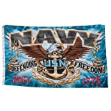 US American Military Defending Freedom Proud Hanging Flag Navy