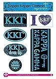 Kappa Kappa Gamma Sticker Sheet - Bohemian Theme. 8.5