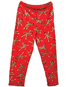 Sock Monkey Lounge Pants with Elasticized Drawstring Waistband