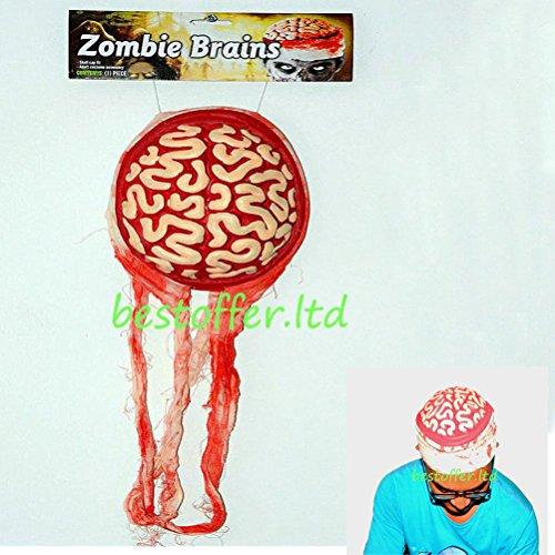 [HOT Bloody Brain Hat Zombie Skull Cap Costume Accessory Body Part Halloween Prop] (Witch Doctor Costume Diy)