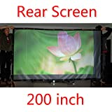 72-300 Projector Screen 16 9 4 3 Projector HD Screen Portable Rear Projection Screen PVC Material 150 Inch 16... - B01J1G2236