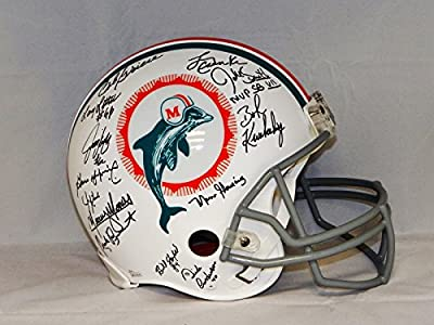 1972 17-0 Perfect Season Autographed Miami Dolphins F/S ProLine Helmet- JSA W Auth