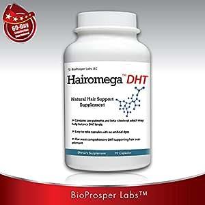 Hairomega DHT Blocker Hair Loss Supplement, 90-count Bottle, 45 Day Supply