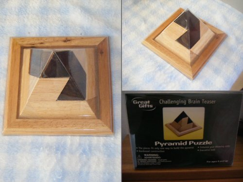 Picture of Great Gifts Challenging Brain Teaser Pyramid Puzzle (B0019697XK) (3D Puzzles)