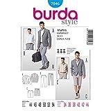 BURDA STYLE 7046 MEN'S SUIT - JACKET, SHORTS & PANTS SEWING PATTERN MEN'S SIZES: 34 36 38 40 42 44 (Color: White)