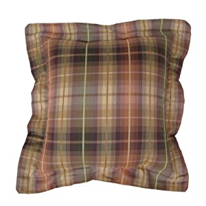 American Mills Purple Plaid 16 by 16 Pillow, Set of 2
