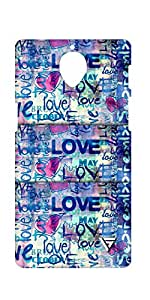 Vogueshell Love Pattern Printed Symmetry PRO Series Hard Back Case for Oneplus Three