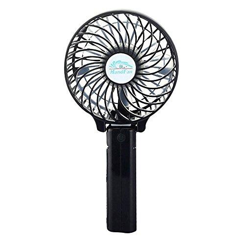 BestFire Mini PortatileTenuto in Mano ventilatore a Pile Della Ventola di Raffreddamento Fans Personali Elettrici I Fan Desktop Pieghevoli con 18650 per Casa e in Viaggio (Nero)
