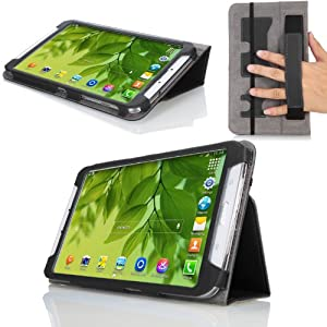 MoKo Samsung Galaxy Tab 3 8.0 Case - Slim Folding Cover Case for Samsung Galaxy Tab 3 8.0 Inch SM-T3100 / SM-T3110 Android Tablet, BLACK (with Smart Auto Wake / Sleep Feature. WILL NOT Fit Samsung Galaxy Tab 4 8.0)