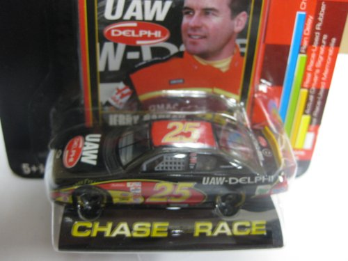 Rc-Nascar - Racing Champions 2002 Preview - 1:64 Jerry Nadeau - Black Red & Yellow Car! - #25 Uaw Delphi Chevy Monte Carlo Nascar front-925621