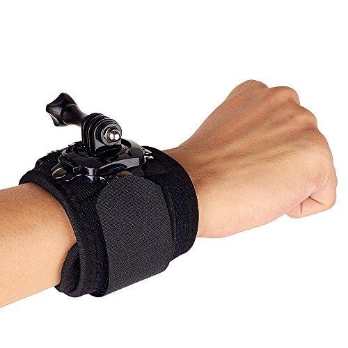 EPBOWPT Hand Wrist strap 360 Degrees Rotation Mount for GoPro HERO 4 3+ 3 2 1 Cameras