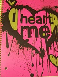 Neon Attitude College Ruled Poly Cover Spiral Notebook Heart Me (8 X 10.5; 70 Sheets, 140 Pages)