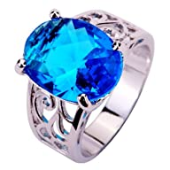 Yazilind Women's Ring with 12*16mm Ov…