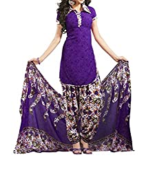 Nidhi Purple Color Cotton Printed Dress Material