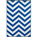Fab Habitat Laguna Indoor/Outdoor Rug, 3 by 5-Feet, Regatta Blue and White from Fab Habitat