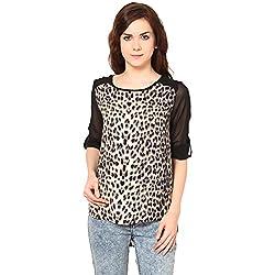 Harpa Women's Body Blouse Shirt (GR2046-Beige_Large)