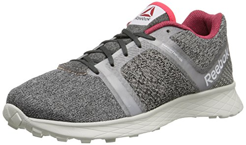 Reebok Women's Sublite Speedpak MT Running Shoe, White/Moon White/Stucco/Chalk/Neon Cherry, 9 M US