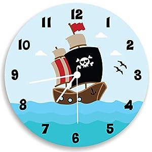 pirate ship wall clock boys bedroom ocean