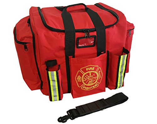 LINE2design XXL Firefighter Turnout Bunker Gear Bag Yellow with Reflective Trim, Impervious Bottom (Ems Turnout Gear compare prices)