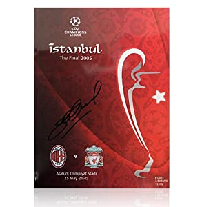 Steven Gerrard autographed Liverpool programme - Istanbul 2005 Final from A1 Sporting Memorabilia